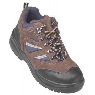 Chaussures de sécurité hautes (cuir velours marron/bleu) COPPER High S1P COVERGUARD