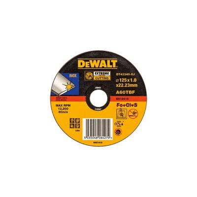 Disques à tronçonner l'inox de 230 mm - lot de 10 - Dewalt | DT42640