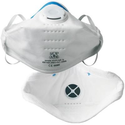 Masques pliables FFP3 - soupape d'expiration - boîte de 20 - SUP AIR | 23305