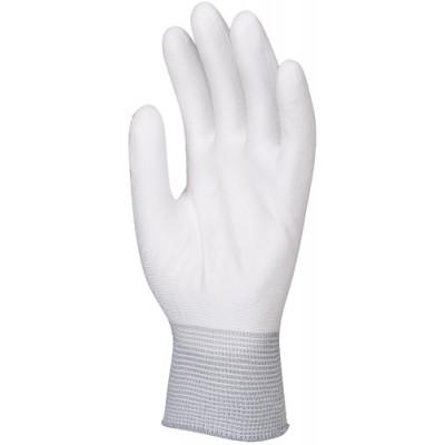 Gants en polyamide blanc, paume enduite polyuréthane blanc - Eurotechnique