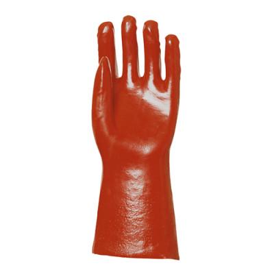 Gants en PVC rouge enduit, modèle standard, 36 cm - Eurotechnique