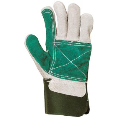 Gants de docker croûte vachette renfort croûte vert - Eurotechnique