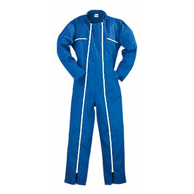 Combinaison 2 Zips polycoton bleu, 245 g/m2 COVERGUARD