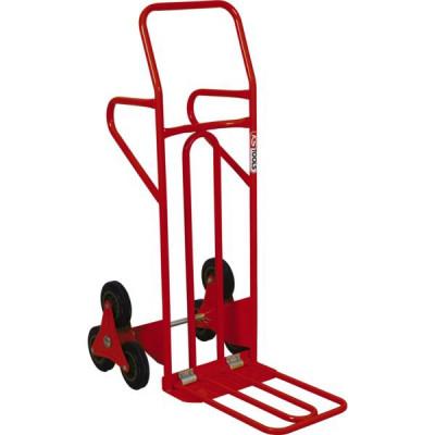 Diable spécial escalier avec bavette repliable - roues pleines. KS TOOLS | 160.0227
