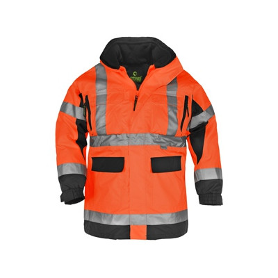 Parka 4 en 1 haute visibilité orange et noire AIR RIPSTOP - hi-viz - Coverguard | 7AIRO