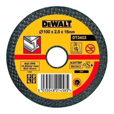 Disque à tronçonner le métal Ø125 x 1,6 x 22,2 DEWALT DT3409