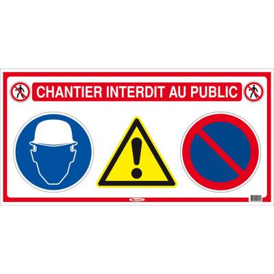PANNEAU DE CHANTIER 4 EN 1 - 800 X 400 MM - SOFOP TALIAPLAST | 620011