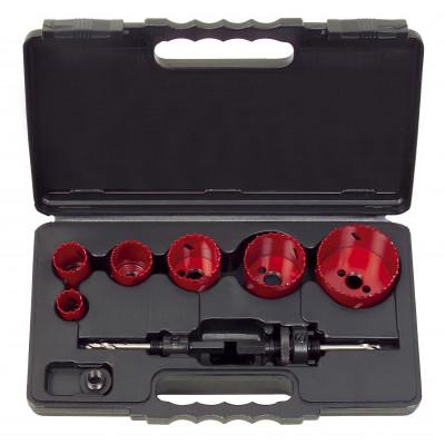 Coffret de 6 scies cloches - 22-29-35-44-51-68 mm - KSTOOLS | 129.5550