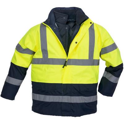 Parka 3 en 1 haute visibilité ROADWAY - polyester - jaune et marine - Coverguard   7ROPY