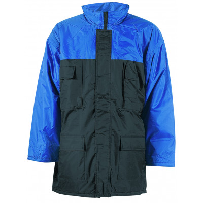 Parka marine et bleu roi CONNEMARA - polyamide enduit PVC imperméable - Coverguard | 5COBI