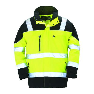 Parka TELEPORT hiviz - jaune et noir - respirante - Coverguard | 7TEPY