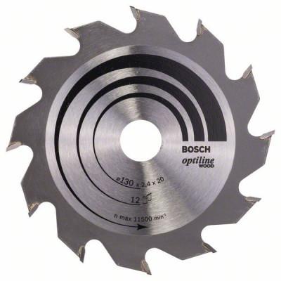 2608641167 Lame de scie circulaire Optiline Wood Accessoire Bosch pro outils