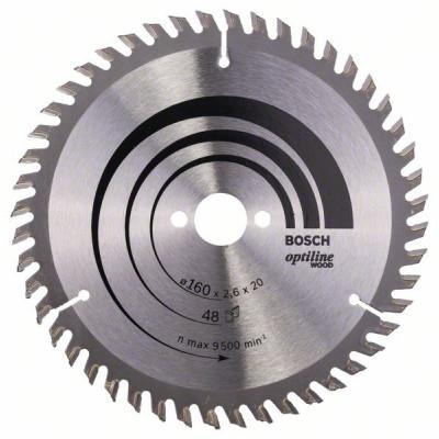 2608640732 Lame de scie circulaire Optiline Wood Accessoire Bosch pro outils