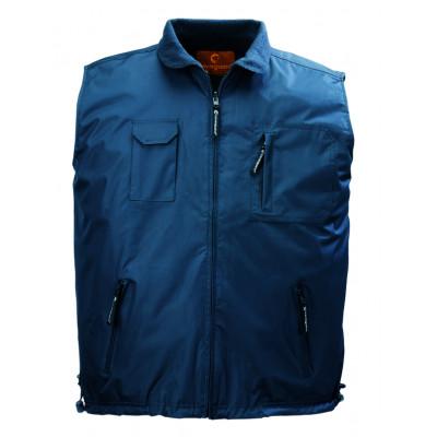 Gilet bleu LEMAN - 100 % polyester PVC - doublé polaire  - Coverguard | 5LEMBM