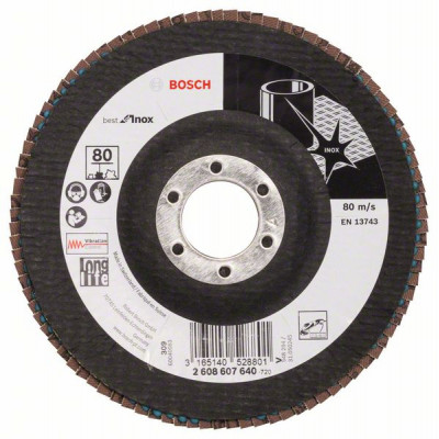 2608607640 Plateau à lamelles X581, Best for Inox Accessoire Bosch pro outils