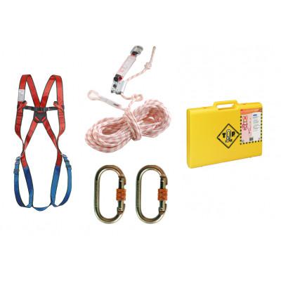 Kit complet Harnais + Corde anti-chute + Connecteur acier à vis + Malette - TOP LOCK | 71630