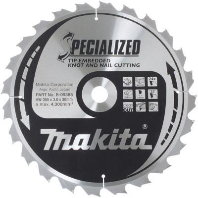 Makita B-09391 Lames carbures ''Specialized'' Bois avec clous, pour scies circulaires