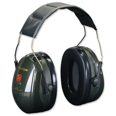 Casque antibruit 3M™ PELTOR™ Optime™ II H520A-407-GQ - Vert - Serre tête
