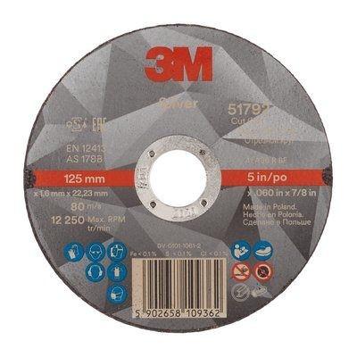 Disque à tronçonner 3M™ Silver plat, T41 125 mm x 1.6 mm x 22.23 mm, 36+
