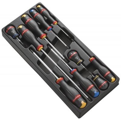 Module de 10 tournevis Protwist cruciformes Facom | MOD.AT5PB