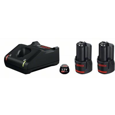 Set batterie 2 x GBA 12V 3.0 Ah + GAL 12V-40 Bosch Professional   1600A019RD
