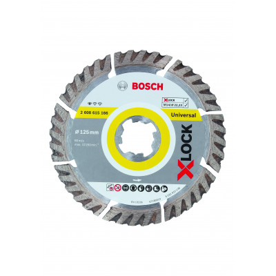 Disques à tronçonner diamantés X-LOCK UNIVERSAL 125x22,23  Bosch Professional | 2608615166