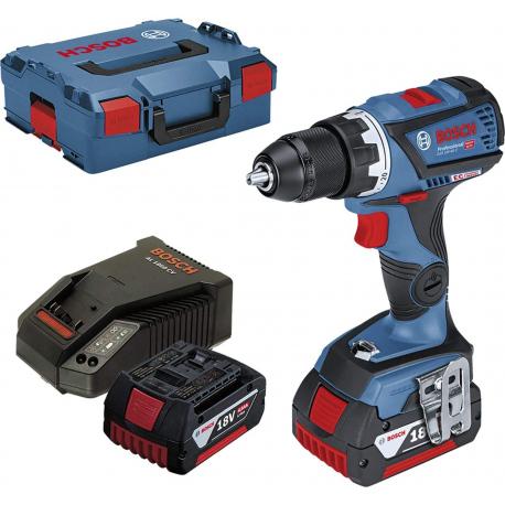 Perceuse-visseuse sans-fil GSR 18V-60 C + 2 batteries 4,0 Ah et L-BOXX Bosch Professional | 0615990J45