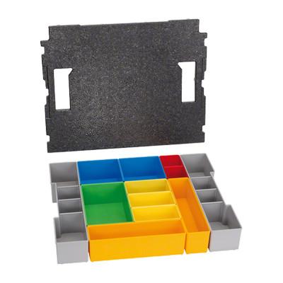 1600A001RZ Boîtes de stockage de petites pièces Bosch Set de casiers Inset-Box pour L-BOXX 102, 12 pièces Professional outil