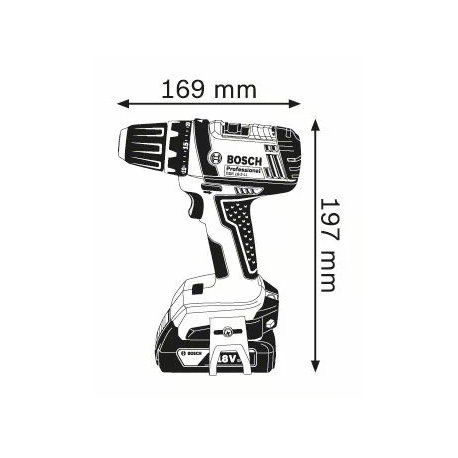 Perceuse visseuse GSR 18-2 LIV - 2 bat. 2Ah Bosch | 06019B7305