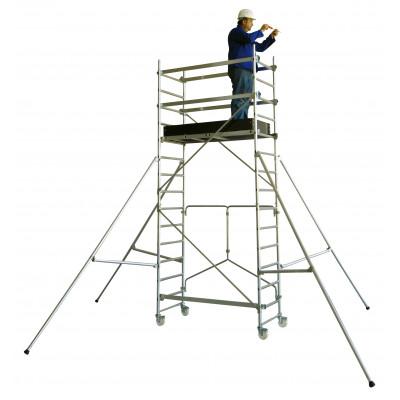 Echafaudages roulants aluminium T-one 155 base pliante plancher 2,70m Tubesca-Comabi   22401531