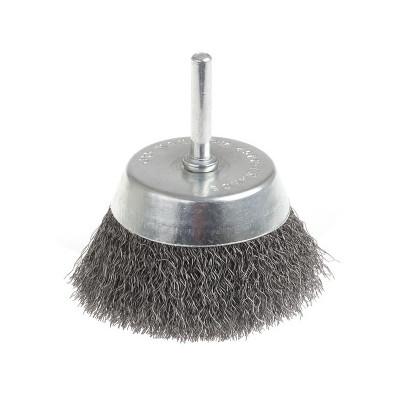 Brosse métallique sur tige pour surface plane diamètre 50 mm - Sodise | 15589