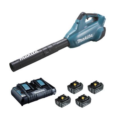 Souffleur 36 V : 2 x 18 V Li-Ion 5 Ah (4 batteries) Makita   DUB362PT4