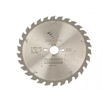Lame de scie à onglet stationnaire extrême diamètre 250 X 30 mm / 80 dents - Dewalt | DT4373