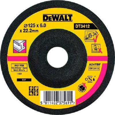 Disque à ébarber le métal diamètre  125 - épaisseur 6 mm  - Dewalt | DT3412